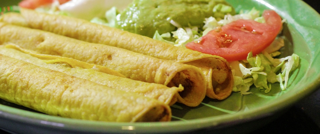 Try our Flautas – Four deep fried rolled corn tortillas, stuffed with shredded beef.